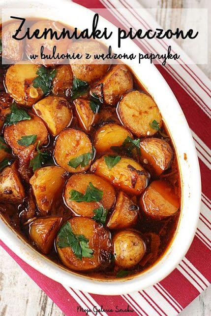 Ziemniaki pieczone w bulionie z wędzoną papryką