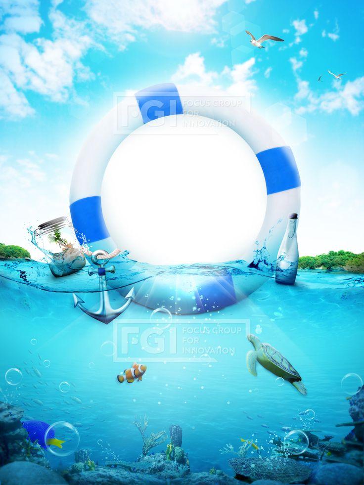 FUS201, 프리진, 그래픽, 그래픽, 오브젝트, 합성, 편집, 배경, 프레임, 바다, 바닷속, 갈매기, 튜브, 유리병, 물병, 물고기, 흰동가리, 거북이, 물보라, 파도, 산호, 돌, 물방울, 열대어, 바캉스, 휴가, 여름, 빛, 수중, 하늘, 섬, 햇빛, 비눗방울, 물결, 물속, 여행, 날씨, #유토이미지