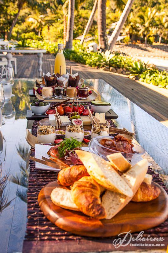 Breakfast buffet Paradise Bay Whitsundays Queensland   via ledelicieux.com