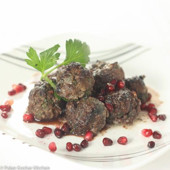 Pomegranate Lamb Meatballs | Paleo Kosher Kitchen