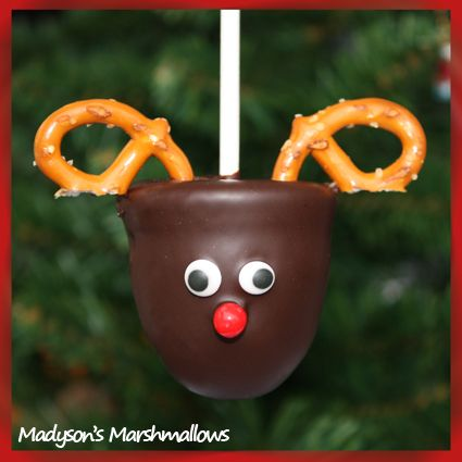 Fun Snacks For Parties | Rudolph the Red Nose Marshmallow! | CutestFood.com