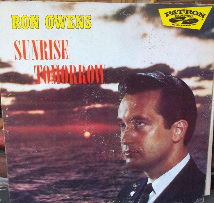 Ron Owens Sunrise Tomorrow Vintage Record Album Vinyl LP Gospel Music Tenor Religious Music
