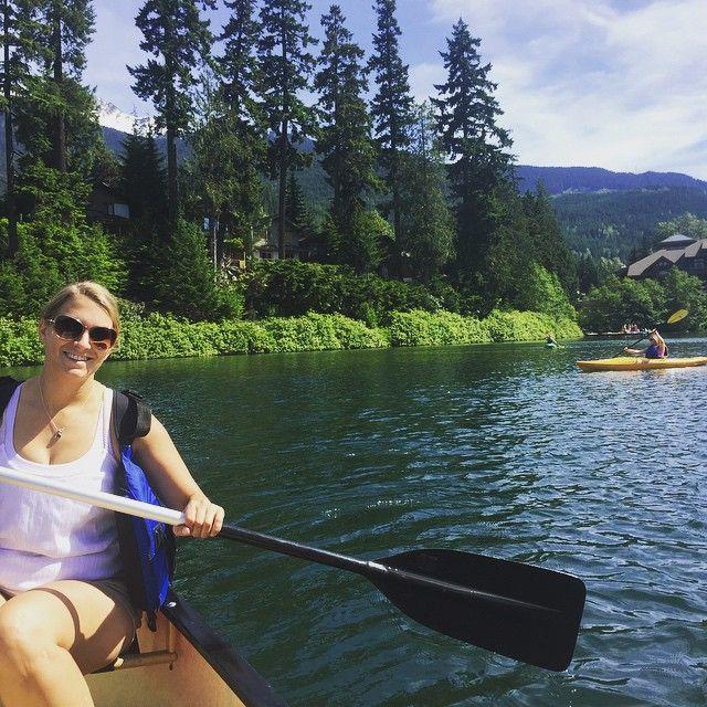 Another day, another #adventure! GM Theresa checks out our #canoes on our #NitaGetaway @hawksworthcom @gowhistler @hellobc #nitalakelodge #nitalake #whistler #exploreBC #paddle #westcoast #sunshine #canadiansummer #funonthelake #thefacesofnitalakelodge #welovewhistler #funinthesun #hellojune #lifeatthelodge #beautifulBC #lakedays #sunshine #girlsgetaway
