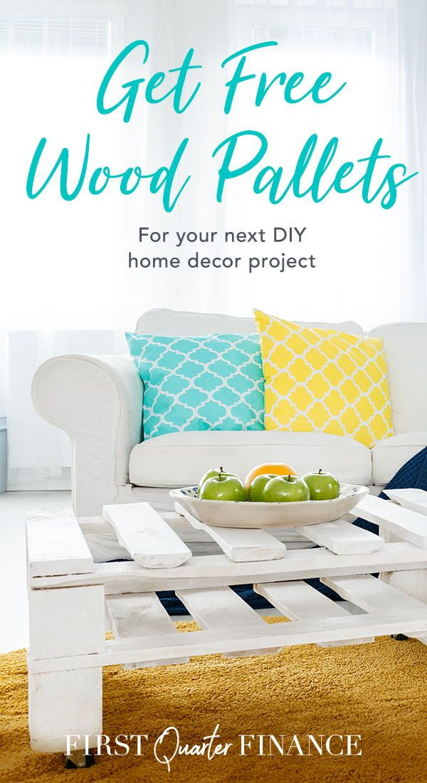 Wood pallets are a versatile material for DIY home decor projects