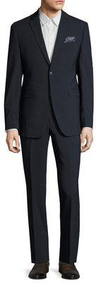 Original Penguin Wool Checkered Notch Lapel Suit