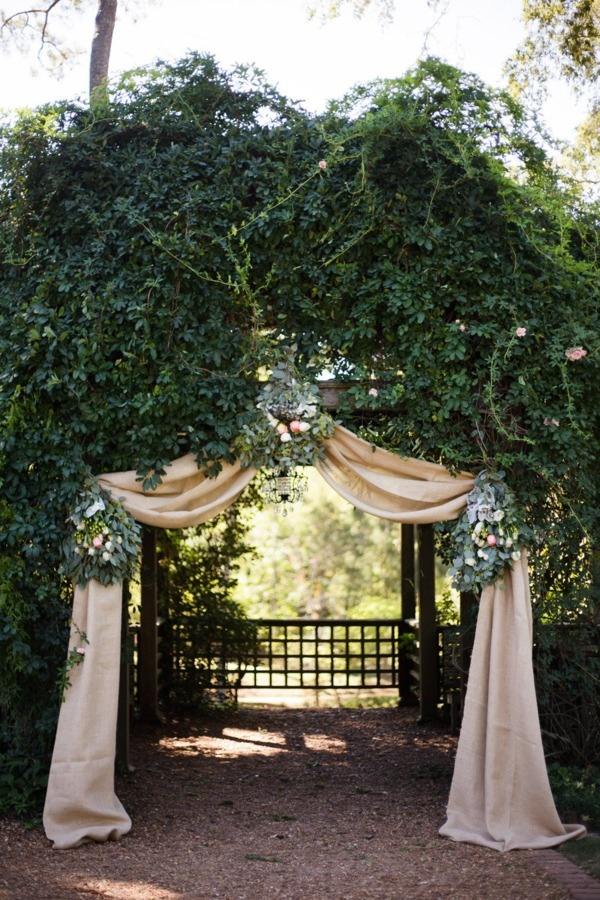 Garden Wedding Entry | Style Me Pretty
