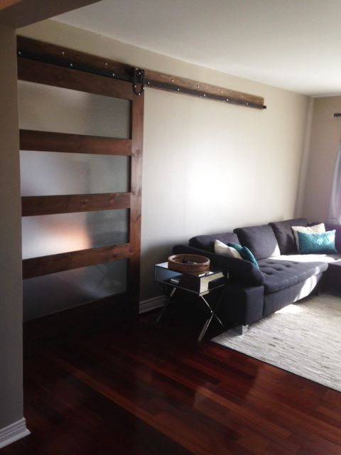 A Client From Ottawa Ordered Two Barn Doors And Two Barn Door Hardware For Their Home. They Also Got A Walnut Console Custom Made For Their TV. & Ottawa Door \u0026 You ... Pezcame.Com