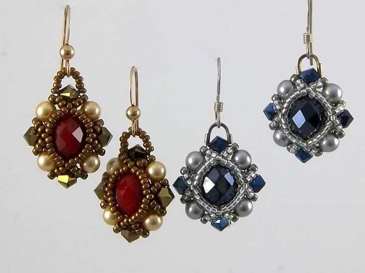 These gorgeous earrings are very easy to make. So easy that it is unfair not to share with our online customers. Just follow the step-by-step illustrated instruction, a pair of elegant earrings is within the hour