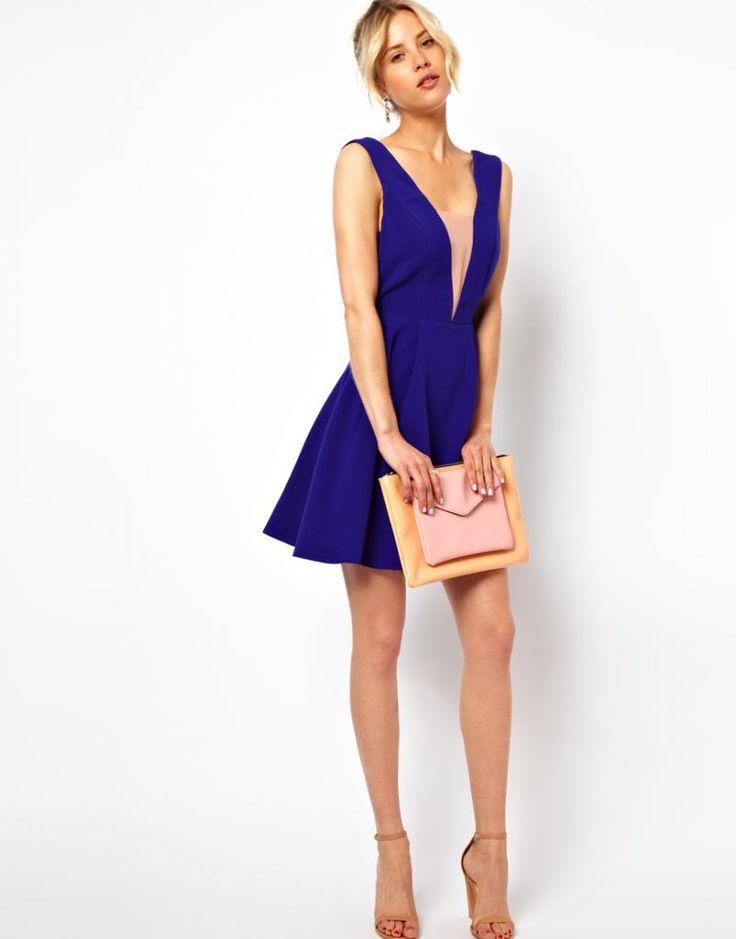 ASOS kobaltowa sukienka plecy wycięte dekolt 34 PL (5046540167) - Allegro.pl - Więcej niż aukcje.