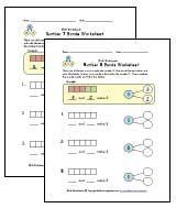 1st grade number bonds worksheets