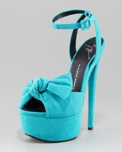 Need!! Give me!: Killers Heels, Platform Bows, Bows Pumps, Giuseppe Zanotti, Cute Shoes, Zanotti Ankle Straps, Ankle Straps Platform, High Heels, Blue Heels