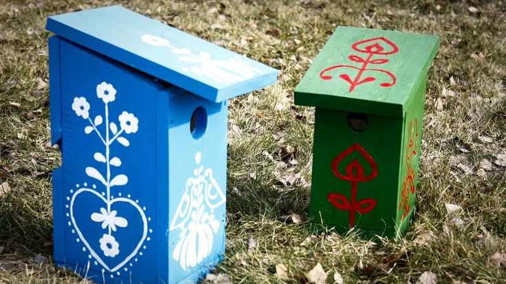 Łatwe, dekoracyjne budki lęgowe (domki dla ptaków)