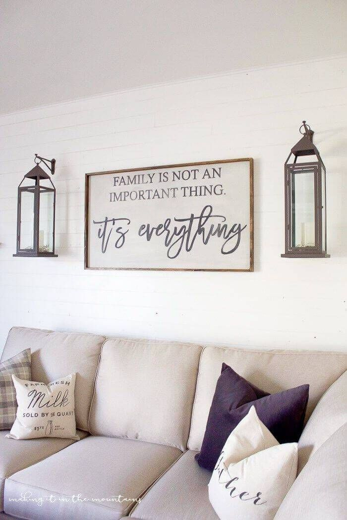 Beautiful Farmhouse Wall Decor Pinterest To Add Some Rustic Flair To Your Blank Farm House Living Room Farmhouse Decor Living Room Farmhouse Style Living Room