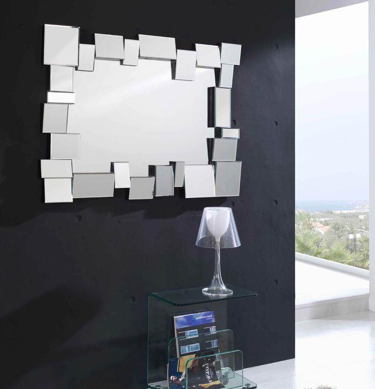 espejo decorativo rectangular de cristal con marco formado