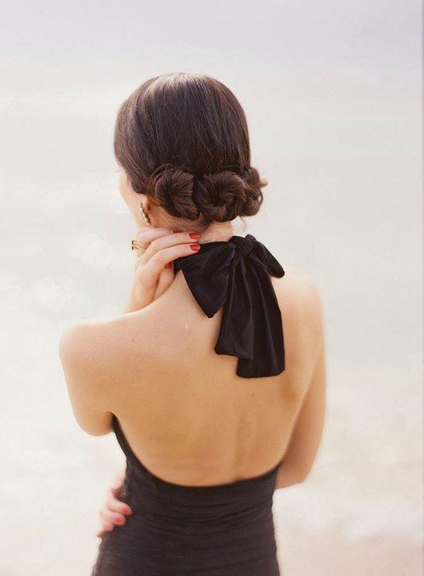 Elegant black bow & red nails Photo by ozzy garcia  www.foreveryminute.com Luxury Silk Lounge and Sleepwear