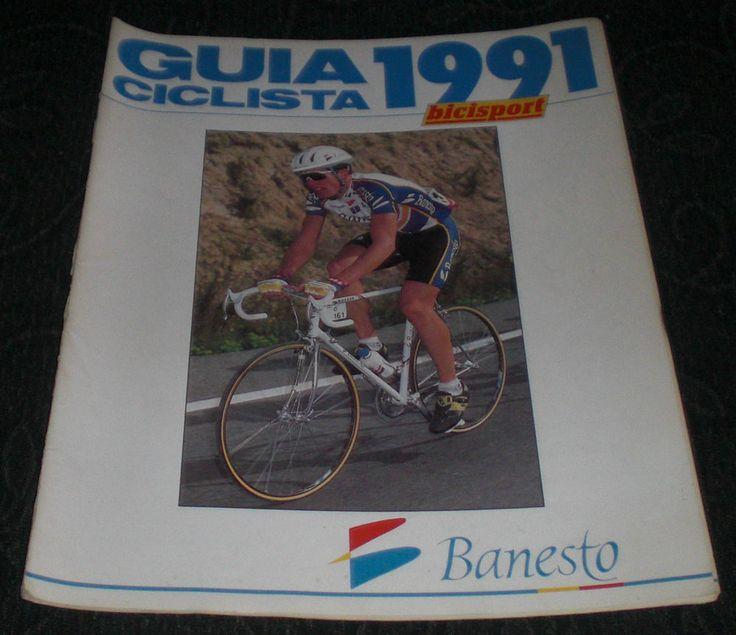 Revista Ciclismo Bicisport Guia Ciclista 1991 Banesto     Equipos     Con Póster  INDURAIN - DELGADO      Banesto