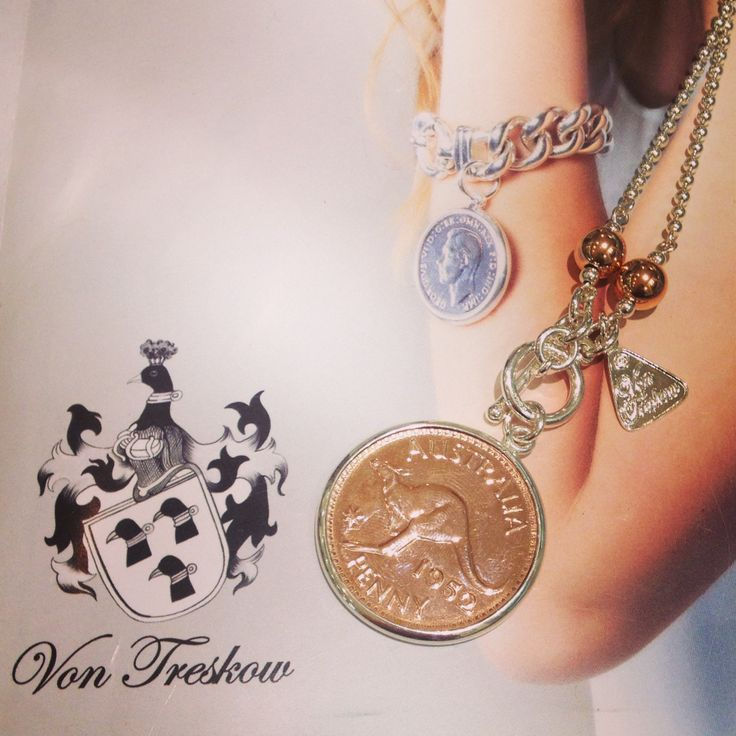 Australian penny Von Treskow jewellery coins rose and silver