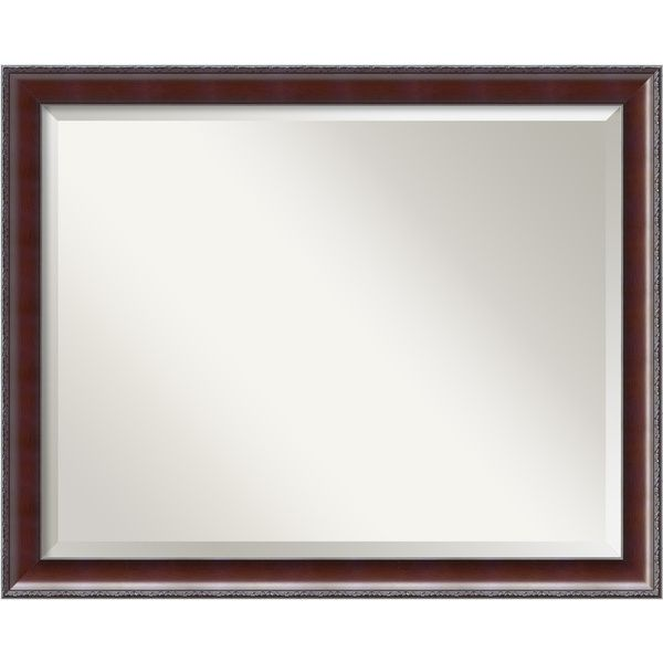 Country Walnut Large Wall Mirror - Overstock™ Shopping - Great Deals on Mirrors