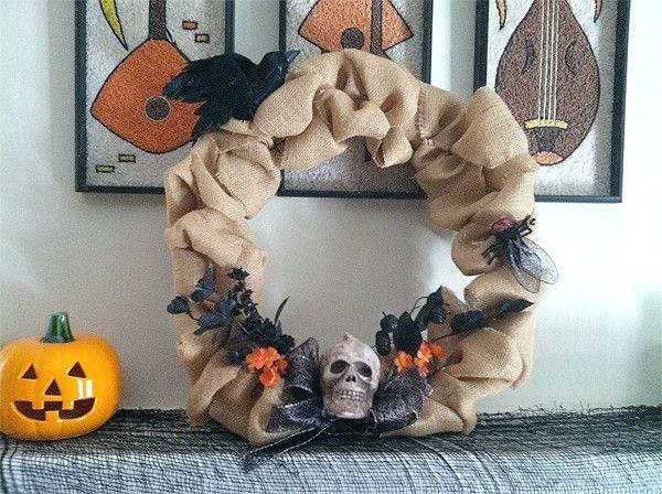 Halloween Deko Stylische Kranze Fur Die Haustur Halloween Deko Halloween Kranze Dekoration