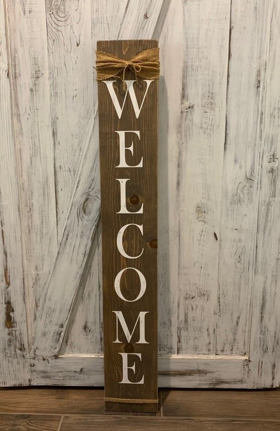 Welcome Wood Porch Sign Etsy Porch Signs Porch Welcome Sign Wood Signs
