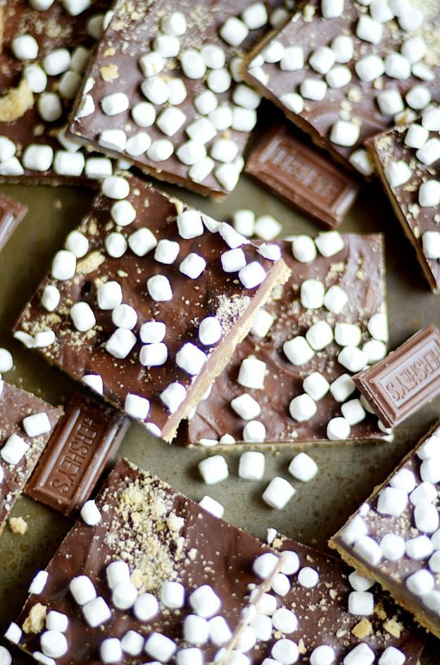 Crunchy, sweet, and easy brown sugar toffee made with graham crackers smothered in milk chocolate and topped with mini marshmallows. Better than campfire s'mores! Have you ever made saltine cracker toffee? Or more affectionately known as Christmas Crack. It is ah-mazing. Hands down, one of my favorite things to eat of all time. And CRAZY addictive …