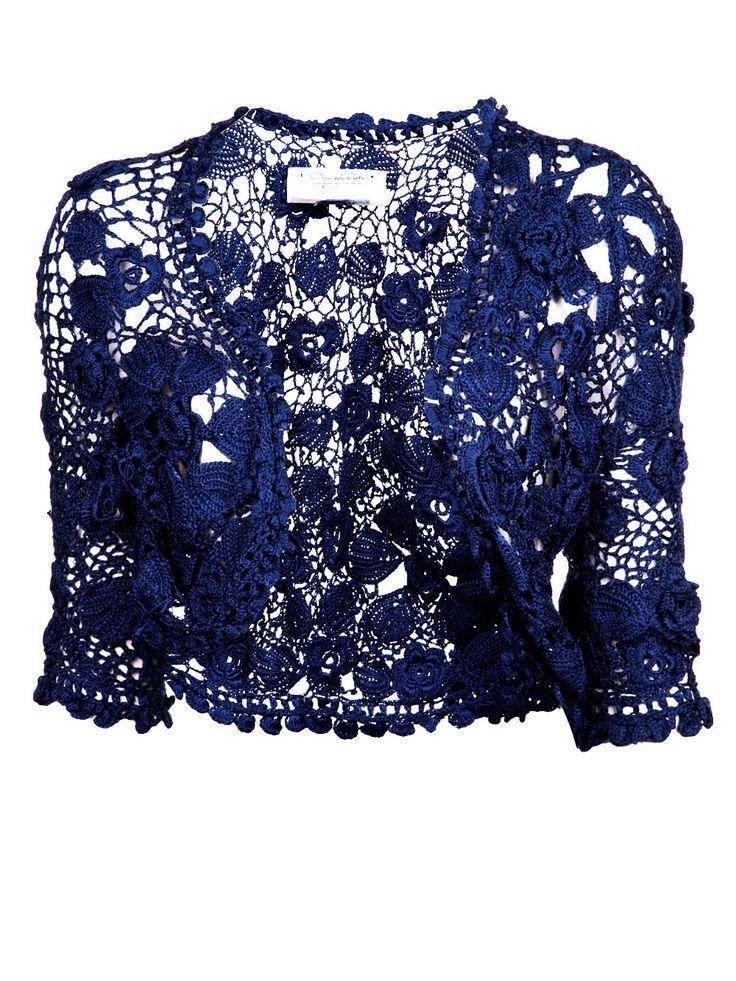 Oscar De La Renta Bolero Azul. - Marissa Collections - Farfetch.com.br
