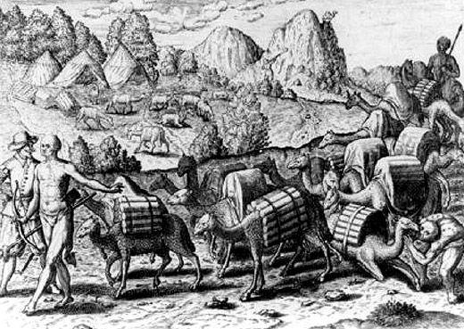 Llamas cargadas con la plata extraída de la minas de Potosí, Perú, 1602. Los incas fueron las primeras víctimas de la contaminación atmosférica  feb 10, 2015 @ 02:01 pm › Arkantos ↓ Deja un comentario  Los antiguos incas están entre las primeras víctimas de la contaminación atmosférica producida por la acción del hombre. En el siglo XVI, los conquistadores españoles forzaron a los nativos a trabajar en las minas ubicadas en las montañas de Potosí (Bolivia), en lo que entonces era la mayor…