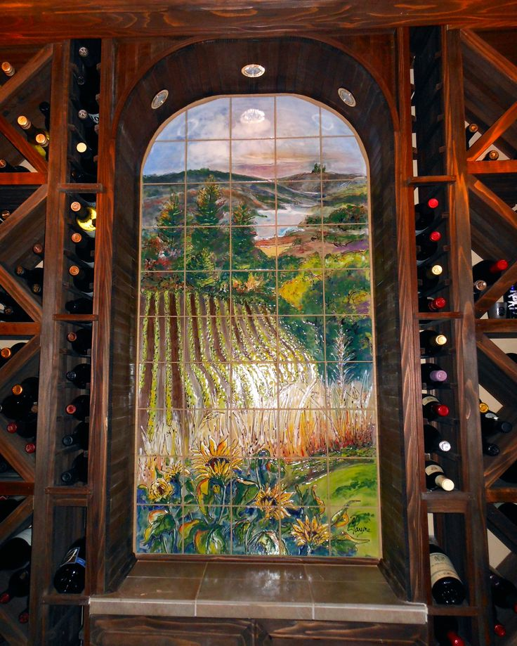 15 best images about tile murals for wine cellars on for Ceramic mural paintings