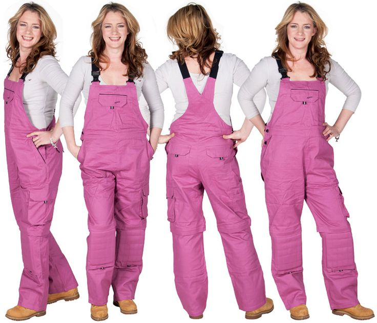 Rosies Women's Dungarees - Dark Pink. Ideal for gardening as they have removeable knee pads!! #WorkDungarees