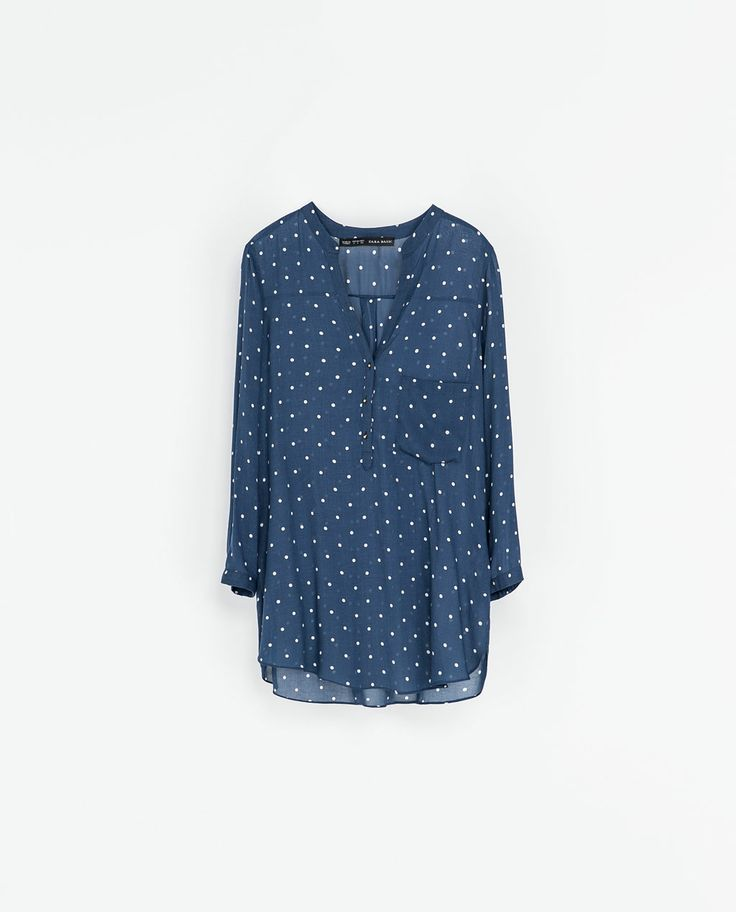 ZARA - WOMAN - POLKA DOT PRINTED BLOUSE