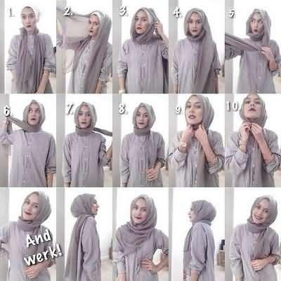 Simple Easy Fashion Hijab Tutorial