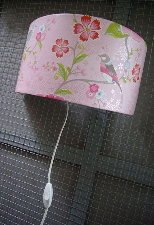 Babykamer wandlamp maken met behang van Pip studio Eijffinger  -  zo doe je dat / how to make a wall light with wallpaper Pip style