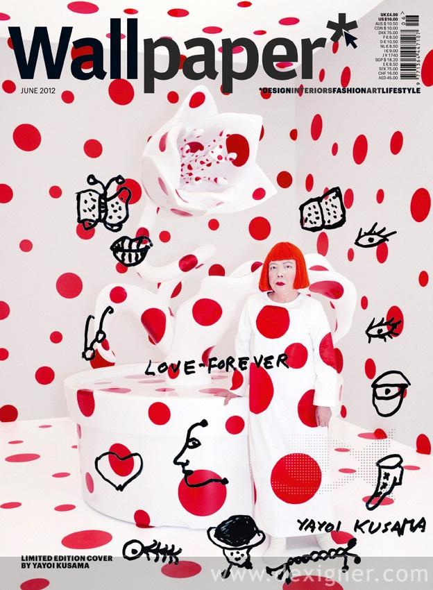 Wallpaper June 2012 Cover by Yayoi Kusama