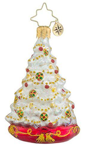 Christopher Radko Winter Spruce Majesty Little Gem Glass Christmas Ornament