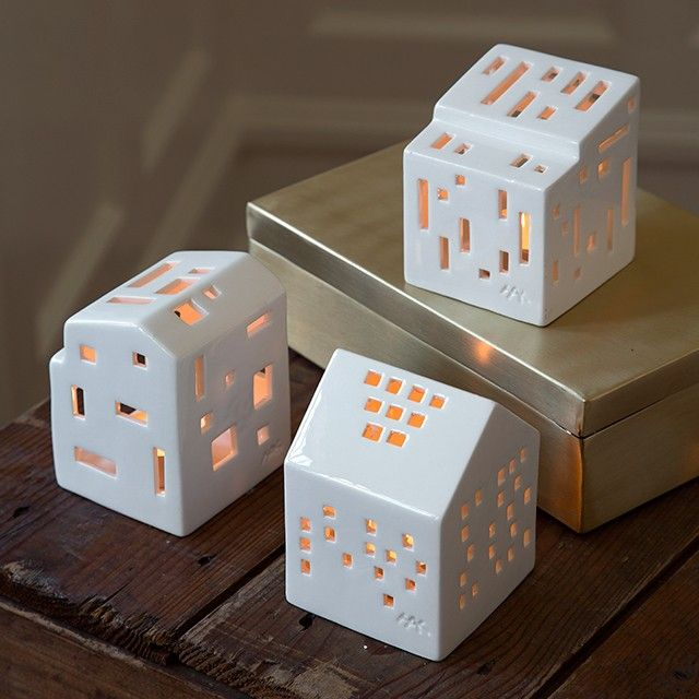 The stunning miniature light house from Kähler's Urbania range has an exciting and almost pixelated design.
