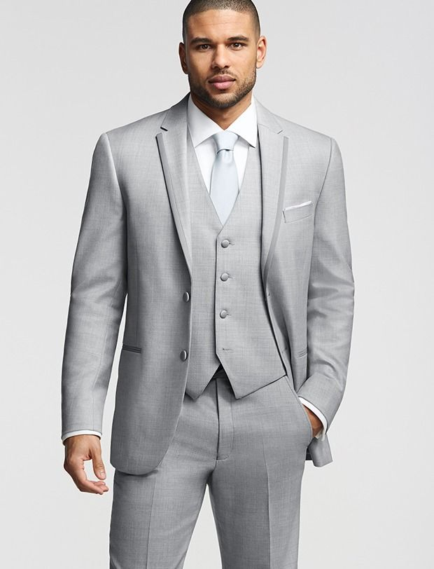 Suits saved from Men's Wearhouse. Joseph Abboud Two-Button Light Gray Super  Framed Notch