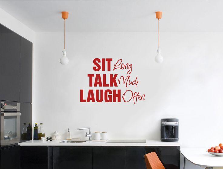 Sit Talk Laugh Wall Sticker | Wall Sayings