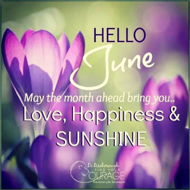 Hello June May The Month Ahead Be Filled With Love