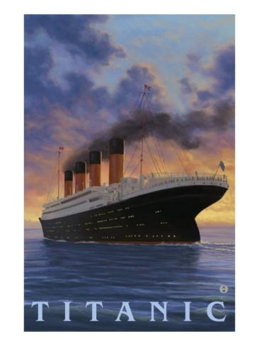 Titanic Scene - White Star Line Premium Poster