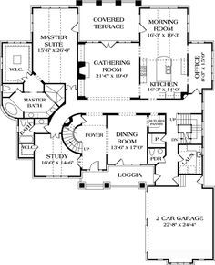 First Floor Plan Of Cottage Craftsman Hillside House Plan 85617
