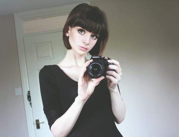 cute bob with bangs: looks like you before you chopped your hair off Livs~