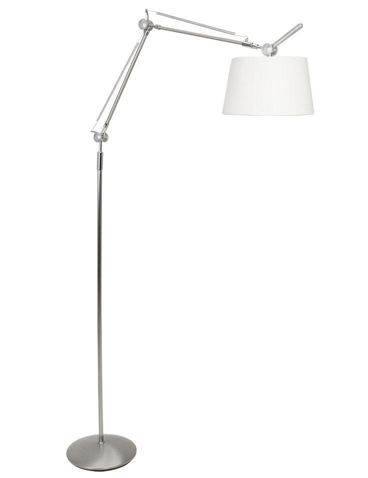Design staande lamp Steinhauer Fontainebleau witte kap