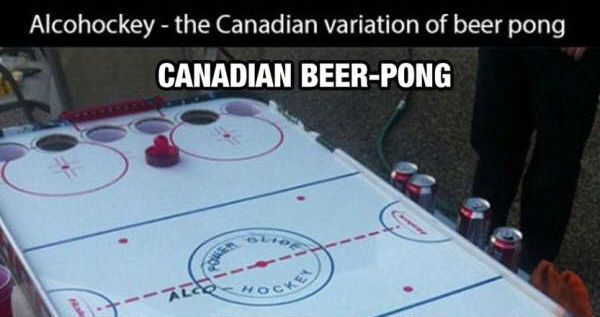 Alcohockey – Canadian Beer Pong