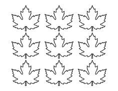 Printable small maple leaf pattern. Use the pattern for crafts, creating stencils, scrapbooking, and more. Free PDF template to download and print at http://patternuniverse.com/download/small-maple-leaf-pattern/.