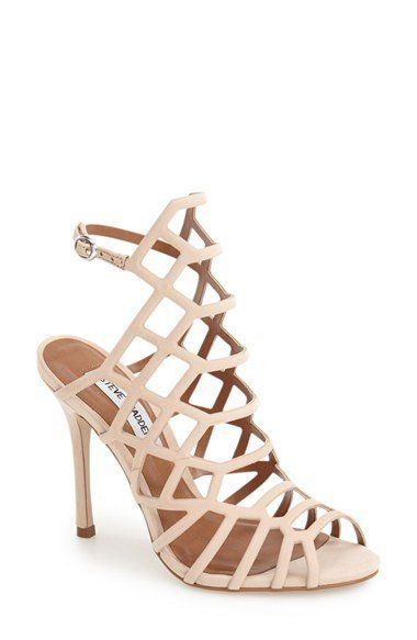 Steve Madden 'Slithur' Sandal (Women) - Tiny, gleaming studs illuminate a  breathtaking cage sandal lifted by a slim stiletto heel.