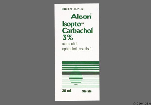 Carbachol : medicine for Glaukoma (when we dont want to use Pilocarpine).