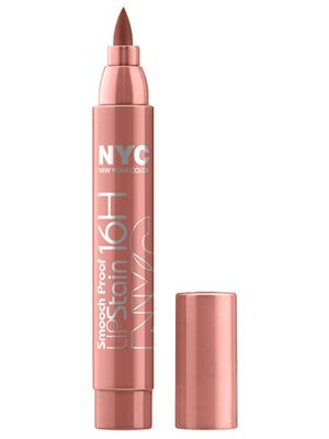 Apply your lip color once with this #NYC Smooch Proof Lip Stain and don't think about it the rest of the day. #LazyGirl #Beauty