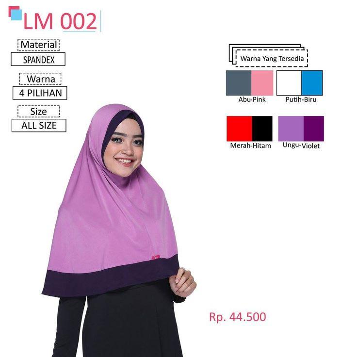 LM 002 Lamia Hijab - Kerudung Bergo Syar'i bahan kualitas premium, nyaman dipakai dan anti gerah. Material : Spandex. Size : All Size. #lamiahijab #hijabindonesia #kerudunginstan #bergo
