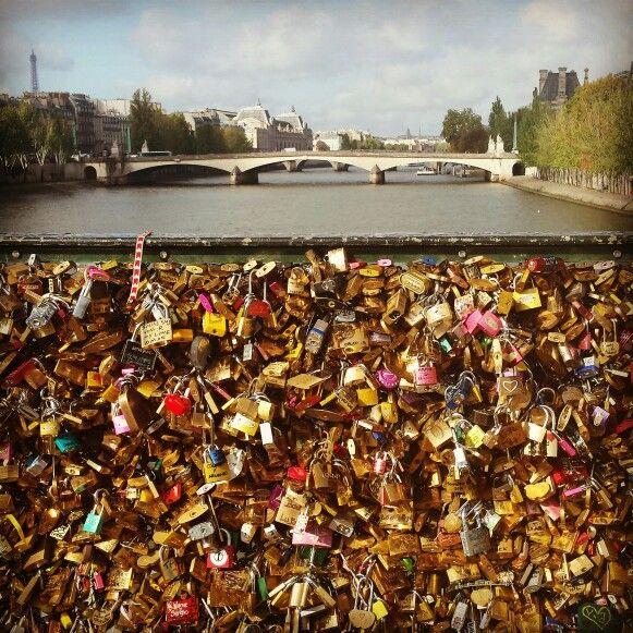 Love lock bridge,  Paris France.