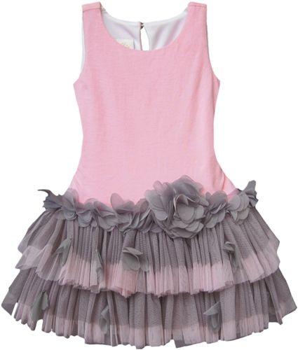 Isobella & Chloe Pile Light Pink Sleeveless Tutu Dress